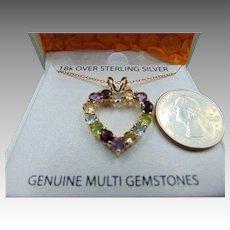 8c10dd56ef85 Jo Jo s Gems.  59 USD SALE. 30% OFF Sterling Genuine Stone 18k vermeil  Necklace pendant