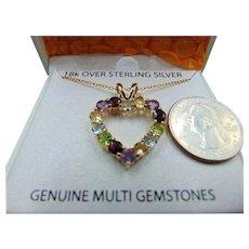 Sterling Genuine Stone 18k vermeil Necklace pendant
