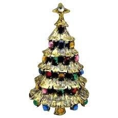 40% OFF Hollycraft signed Christmas tree brooch