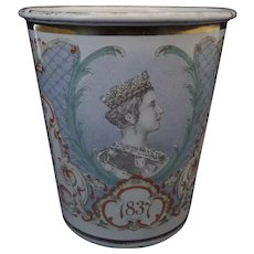 Royal Commemorative Queen Victoria Enamel Beaker Diamond Jubilee 1897