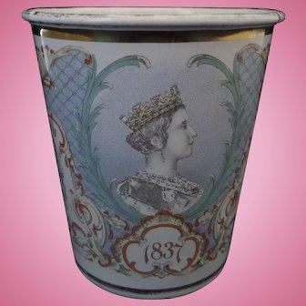 Royal Commemorative Queen Victoria Enamel Beaker Diamond Jubilee 1897