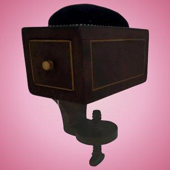 Georgian Regency Mahogany veneered Sewing Clamp Box with Pin Cushion early Nineteenth Century