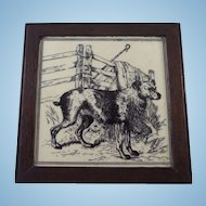 Minton and Hollins Transferware Sheep Dog Tile William Wise 1880s