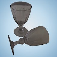 Rummer Wine Ale Glass Goblet, Pair of Nineteenth Century