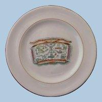 Staffordshire Commemorative Transferware Print Plate Protestant Ascendancy Orange Order Masonic Circa 1820 - 30