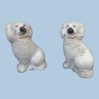 Staffordshire Dog Poodle Spaniel Figures Miniature Doll House Size 1800's