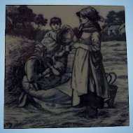 Minton Tile William Wise Country Village Life - Harvest Time
