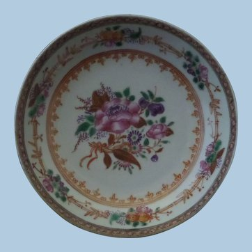 Chinese Export Porcelain Famille Rose Saucer Dish
