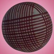 Victorian Scottish Carpet Bowl or Ball Red Stripe decoration