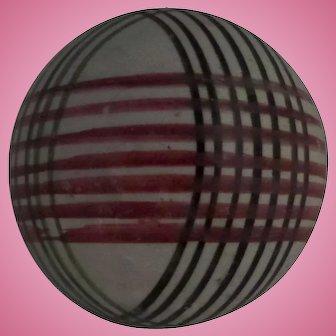 Victorian Scottish Carpet Bowl or Ball Mix Stripe decoration