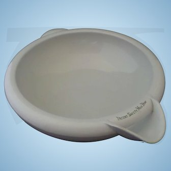 White Ironstone Patent Hygienic Milk Bowl Transfer Print Grimwade's Dairy Kitchen 4 Pint Size