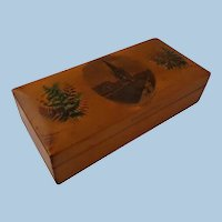 Mauchline Ware Clark's Sewing Cotton Reels Box Fern and  Scott Transfer