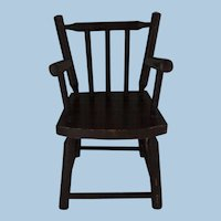 Miniature Stick or Comb Back Chair Doll Size Painted Folk Art Nineteenth Century