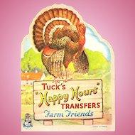 Raphael Tuck Happy Hours Childrens Transfers Farm Friends Set No. 2