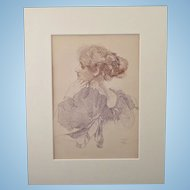 J. Walter West 1860 - 1933 Original Colour Lithograph Print C1897