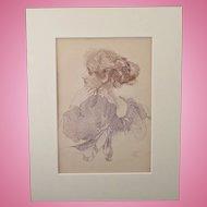 J. Walter West 1860 - 1933 Original Colour Lithograph Print C1897