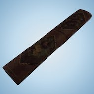 "Needle Case Napoleonic Prisoner of War Straw Work Circa 1800 - 8. 3/4"""