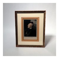 Print of Richard Wagner Composer on Silk