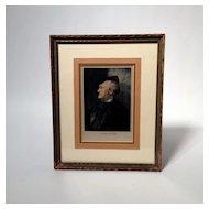 Print of Richard Wagner Composer on Silk