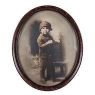 Sepia Photo Portrait of a Little Boy