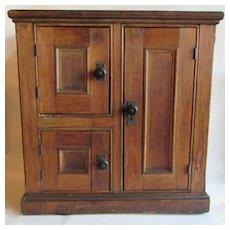 Antique Pine Three Door Ice Chest or Ice Box