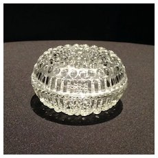 Covered Glass Dresser Dish with a Bubble Pattern