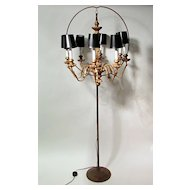 Late 19th Century French Gilt 8 Light Chandelier