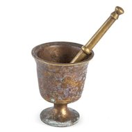 Solid Brass Mortar & Pestle