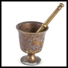 Solid Brass Mortar & Pestle