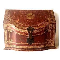 Antique Italian Leather Letter Box