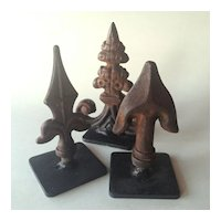 French Finials on Stands, set of 3