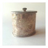 Silverplated Lidded Box with Engraved Shield