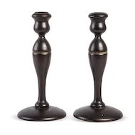 Pair of Vintage Wood Candle Sticks