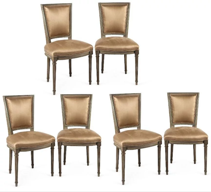 Set Of Six Circa 1900 Louis Xvi Style Neo Clical Dining Chairs Paul Corrie Interiors Home Ruby Lane
