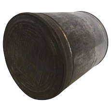 Metal Tin Canister with Lid