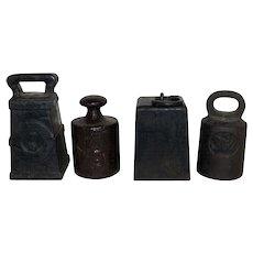 Vintage Weights, Set of 4