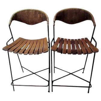 Pair of Vintage Arthur Umanoff Counterstools