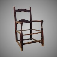 18th century American child's chair