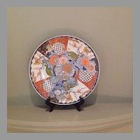 Large 19th century Japanese Imari porcelain charger