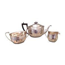 George III period sterling tea set by Urquhart and Hart