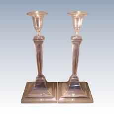 British sterling candlesticks made by Gorham in 1910