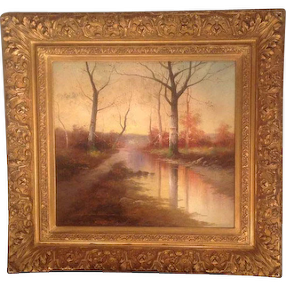 American 20th cent. oil by William J. Engelhardt(born 1892)