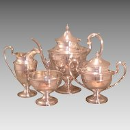 American sterling tea set made by Gorham in 1929