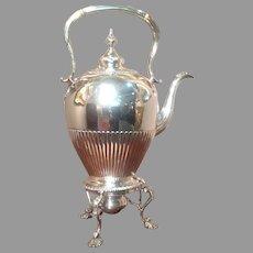 18th cent. British Sterling kettle by Ebenezer Coker