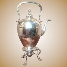 18th cent. British Sterling kettle by Ebenezer Coker