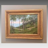 C. 1900 Danish oil painting