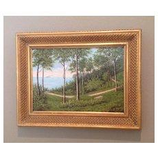 C. 1900 Danish oil painting