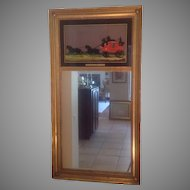 C. 1900 English gilted mirror