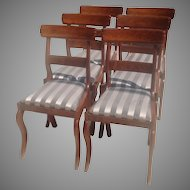 C.1835 signed Boston chairs