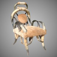 Mid 20th cent. American steer horn chair